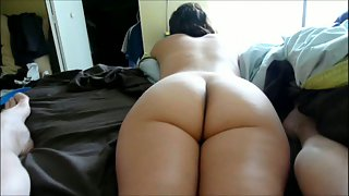 Foot fuck amateur porn naked in sofa using soles to masturbate