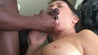 Jizm ultra-kinky granny loves being fed super hot jummy jism from a black manstick