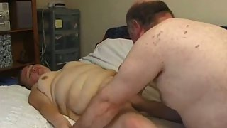 Mature amateur creampie huge aged couple pussy eating and cum inwards
