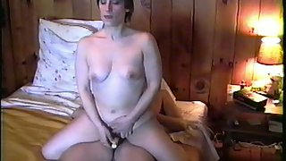 Michelle riding my cock with enthusiasm while using vibrator