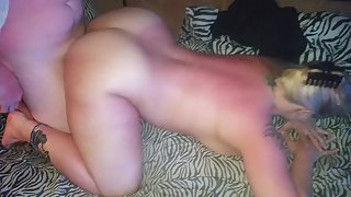 Mizzdelicious gets humped doggystyle by her man's friend