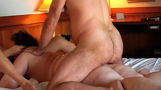 Married wife hook-up mature swingers sharing one damsel