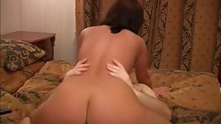 Brown-haired sex kitten making porn and having a plenty of of joy