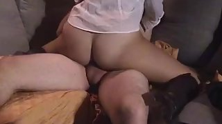 Asian girlfriend riding cock cowgirl and cumming