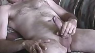 2 video clips of me jacking my hard cock to completion