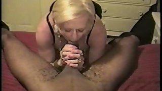 Amateur blonde and black stud cuckold wifey loves black men