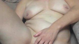 Ann masturbating with a cucumber