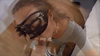 Masked skank sarah dt and jizz flow cumpilation