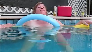 Sniffy under water movie skinny dipping in pool