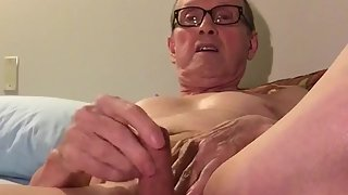 Uncovered queer pervert slut fingers asshole jerks off munches cum