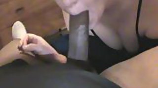 55 year aged tatted red head granny loves deep-throating huge black cock and getting her reward