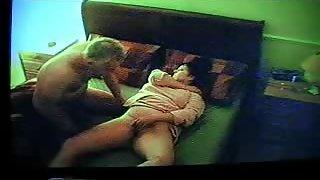 Wonderful cougar wanking her clit after me smashing her