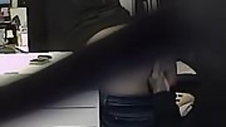Creamy finger bang for office nymph at work