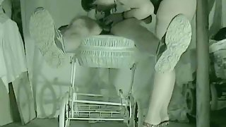 Mature mom screw in pram