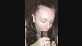 53 year old grandmother fellating the fuck out of a big stiffy