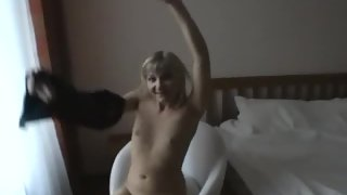 Kinky amateur blond gets wildly porked in private