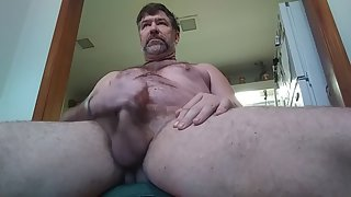 Danrun rips a cum load on my belly & finger in my bootie