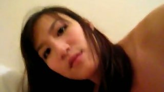 Bony and hot asian girlfriend sex video with boyfriend in apartment