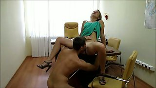 Sex in a government office after working hours with assistant