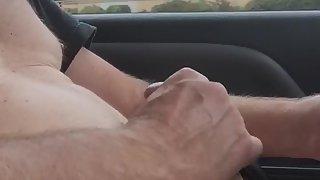 Nude masterbation in public on highway
