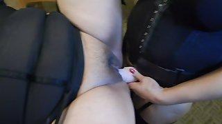 My wife fucking her bbw house maid