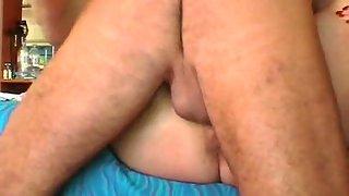 Ann masturbating with her thick vibrators