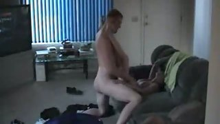 Cheating bf caught by gf fucking a dark haired nymph in the act