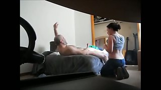 Super-naughty older male sex with younger call girl on hidden camera