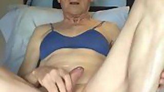 Revealed homo crank slut strikes off, cums, plays peekaboo