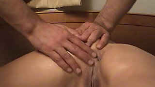 Tight anal sex and internal cumshot for sexy brunette wife with a great body