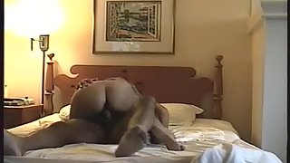 Nympho wife has a great chortling orgasm while riding spunk-pump