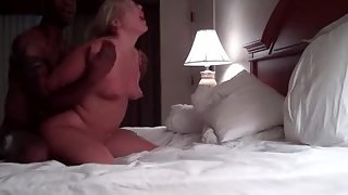 Blonde milf wife gets her pussy pulverized hard by bbc black bull sex