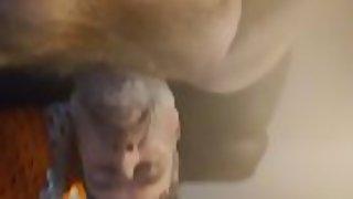 Danrun splashes his creamy pleasure in your face