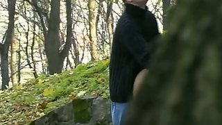 Voyeur sex blonde oral and leaned over sex in public park in daylight