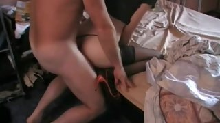 Anna gets a good shagging from this bloke up her fuck holes