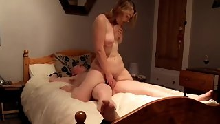 British whore riding submissive ex bf to orgasm