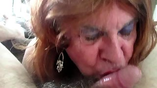 Sissy fag dana foxx sucking cock
