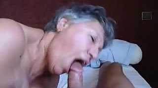 A sexy grandma just likes a large cock