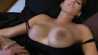 Fantastic ginormous boob redhead gets a mind-blowing internal ejaculation fuck