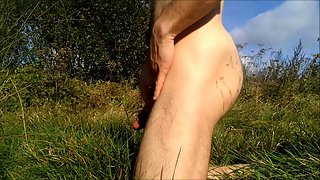 Cumming in the lovely nature setting satisfy witness and enjoy
