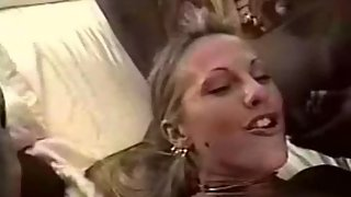 Ash-blonde amateur slut mixed-race giant cock lovemaking orgy