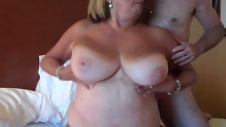 Huge titted mature shares nipples gets anal invasion bum fucked