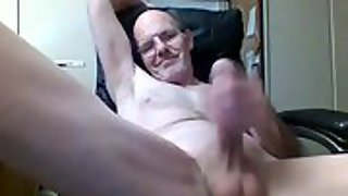 Stroking my hard throbbing cock in the early morning hours