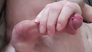 Stroking my spunk pump to orgasm on the bed