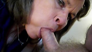 Susie superslut sucks cock and talks about herself