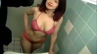Blowjob in public restroom