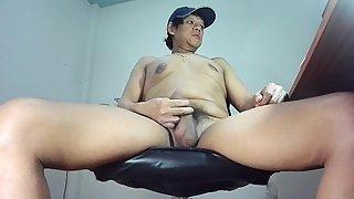 Thai man wants many people to observe him jerk off