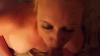 Spurting a load of sticky jizz in her hatch