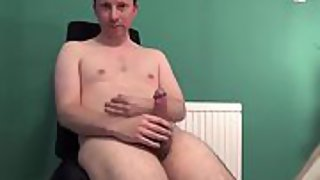 Cock squirts messy cum