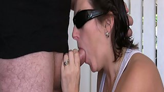 Chubby mature blow-job with facial cumshot she knows how to milk it